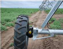 Tyre for center pivot farm irrigation machine